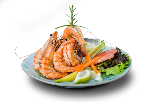 Prawns, as fresh and perfect cooked as we could possibly get them to your plate.