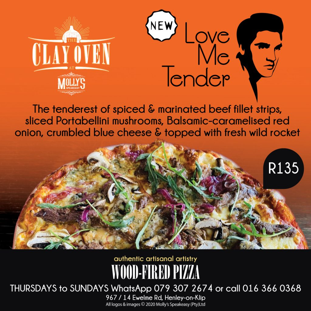 """NEW The """"Love Me Tender"""" - our latest offer in authentic clay oven pizza making"""